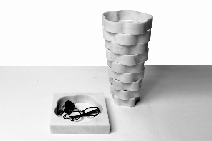 LITTLE GERLA_MARBLE VASES COLLECTION BY PAOLO ULIAN & MORENO RATTI