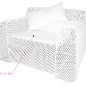 Cushion for chair Ivy White Emu Paola Navone 1