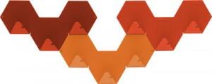 Gancio Simplex confezione da 3 Arancione Tolix Sebastian Bergne 1