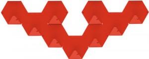Gancio Simplex confezione da 3 Rosso Tolix Sebastian Bergne 1