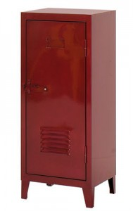Guardaroba basso 1 porta Rosso glacis Tolix Chantal Andriot 1