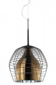 Lampada a sospensione Cage Ø 46 cm Bronzo|Marrone Diesel with Foscarini Diesel Creative Team 1