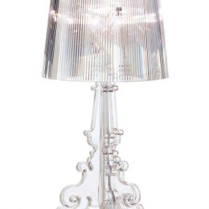 Transparent Kartell Bourgie table lamp Ferruccio Laviani 1