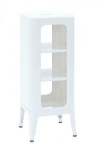 Mobile Sgabello alto H 75 cm Bianco Tolix Frédéric Gaunet 1