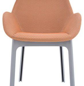 Poltrona Clap Arancione|Grigio Kartell Patricia Urquiola 1