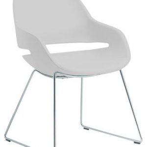 Chair Eva foot slide White | Chrome Zanotta Ora Ito 1