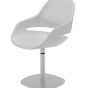 Armchair Eve central foot White Zanotta Ora Ito 1