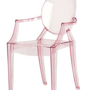 Children chair Lou Lou Ghost transparent Rosa Kartell Philippe Starck 1