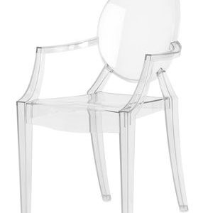 Children chair Lou Lou Ghost Kartell Philippe Starck Transparent 1