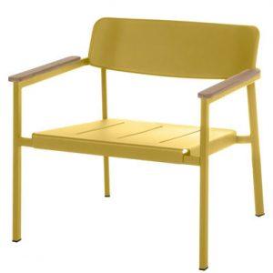 Low armchair Shine Yellow Mustard | Teck Arik Levy Emu 1