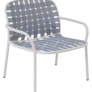 Low armchair Yard White | Grey Emu Stefan Diez 1