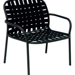 Low armchair Yard Black Emu Stefan Diez 1