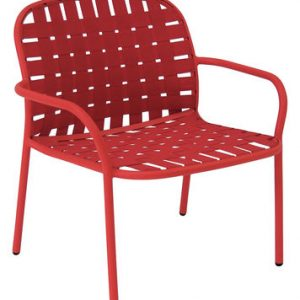 Low armchair Yard Red Emu Stefan Diez 1