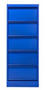 Portaoggetti Classeur à clapets CC5 / 5 scomparti - Les Couleurs® Le Corbusier Blu oltremare 59 Tolix Xavier Pauchard 1