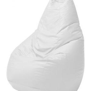 Pouf Sacco Zanotta White Leatherette Cesare Paolini   Franco Teodoro   Piero Gatti de 1
