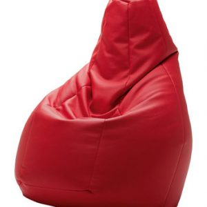 Sacco Zanotta Imitation leather ottoman Red Cesare Paolini | Franco Teodoro | Piero Gatti de 1