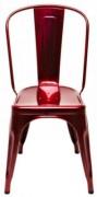 Sedia A / Inox Rosso metallizzato Tolix Xavier Pauchard 1