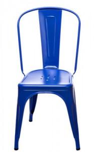 Sedia A / Les Couleurs® Le Corbusier Blu oltremare 59 Tolix Xavier Pauchard 1