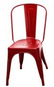 Sedia A / Les Couleurs® Le Corbusier Rosso vermiglio 59 Tolix Xavier Pauchard 1