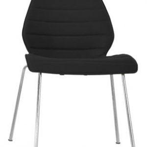 Chair Maui Soft / Kvadrat Divina Black Kartell Vico Magistretti 3 1