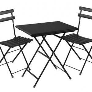 Set Arc en Ciel 2 1 Tisch + Stühle 70x50cm Schwarz Emu Centro Ricerche Emu 1