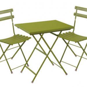September Arc en Ciel 2 1 table + chairs 70x50cm Green Emu Centro Ricerche Emu 1