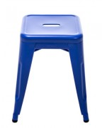 Sgabello H - H 45 cm - Les Couleurs® Le Corbusier Blu oltremare 59 Tolix Xavier Pauchard 1