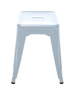 Sgabello H - H 45 cm Les Couleurs® Le Corbusier Blu oltremare chiaro Tolix Xavier Pauchard 1