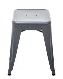 Sgabello H - H 45 cm - Les Couleurs® Le Corbusier Grigio 59 Tolix Xavier Pauchard 1
