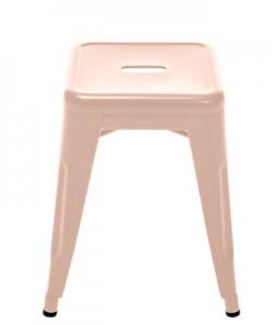 Sgabello H - H 45 cm Les Couleurs® Le Corbusier Rosa chiaro Tolix Xavier Pauchard 1