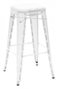 Sgabello alto H - H 75 cm Bianco Tolix Chantal Andriot 1