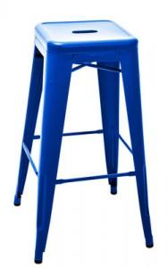 Sgabello alto H - H 75 cm - Les Couleurs® Le Corbusier Blu oltremare 59 Tolix Xavier Pauchard 1