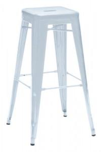 Sgabello alto H - H 75 cm - Les Couleurs® Le Corbusier Blu oltremare chiaro Tolix Xavier Pauchard 1