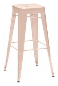 Sgabello alto H - H 75 cm - Les Couleurs® Le Corbusier Rosa chiaro Tolix Xavier Pauchard 1