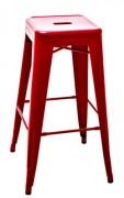 Sgabello alto H - H 75 cm - Les Couleurs® Le Corbusier Rosso vermiglio 59 Tolix Xavier Pauchard 1