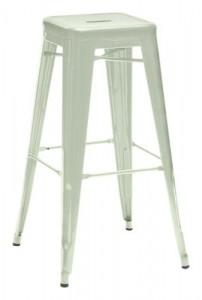 Sgabello alto H - H 75 cm - Les Couleurs® Le Corbusier Verde inglese pallido Tolix Xavier Pauchard 1