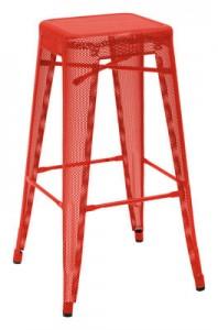 Sgabello alto H - H 75 cm Rosso Tolix Chantal Andriot 1