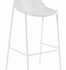 High stool Round White Emu Christophe Pillet 1