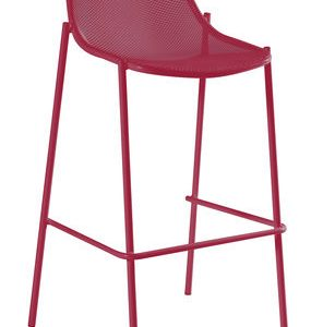 High stool Round Red Emu Christophe Pillet 1