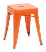 Sgabello basso H - H 45 cm Arancione Tolix Xavier Pauchard 1