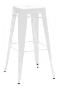 Sgabello basso H - H 75 cm Bianco Tolix Xavier Pauchard 1