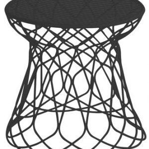 Low stool Re-trouvé Emu Black Patricia Urquiola 1
