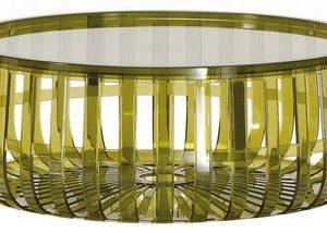 Dark green table Panier Kartell Ronan & Erwan Bouroullec 1