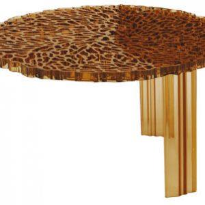 Couchtisch T-Tabelle H 28 cm transparent amber Kartell Patricia Urquiola 1