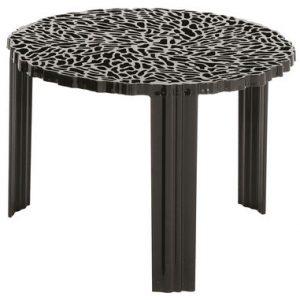 Coffee Table T-Table H 36 cm Matte black Kartell Patricia Urquiola 1