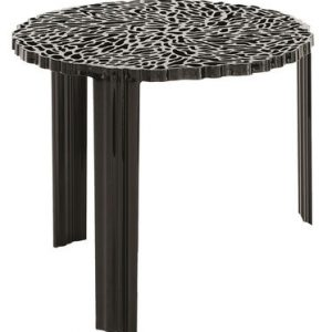 Coffee Table T-Table H 44 cm Matte black Kartell Patricia Urquiola 1