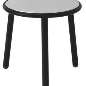 Yard coffee table Ø cm 50 1 Black Emu Stefan Diez
