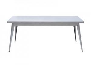 Tavolo 55 L 130 x larg 70 cm Acciaio grezzo Tolix Jean Pauchard 1