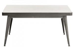 Tavolo alto 55 / 90 x 55 cm Acciaio grezzo brillante Tolix Jean Pauchard 1