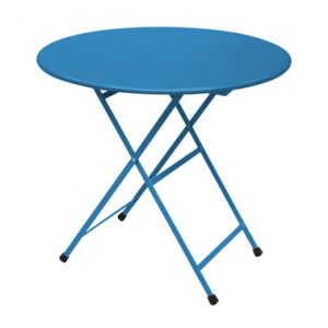 Folding table round Arc en Ciel Ø 80 cm Azure blue Emu Research Centre Emu 1